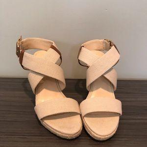 Banana republic wedge sandals
